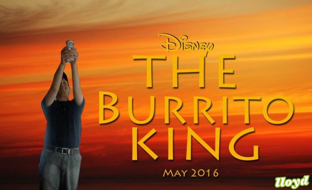 A Burrito A day Lion King