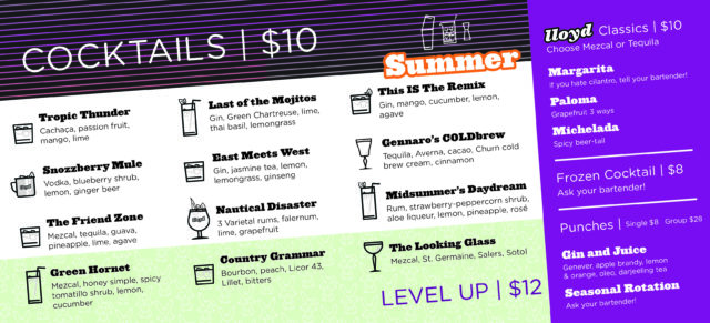 Cheers to the Warmth! Hello, Summer Cocktail Menu. 1